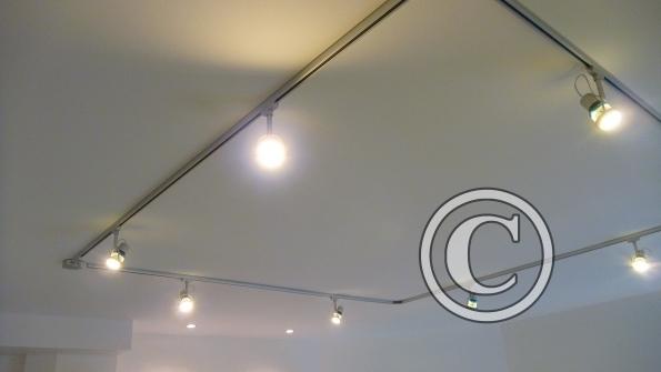 galerie r novation spots sur rail 220 v modulable. Black Bedroom Furniture Sets. Home Design Ideas